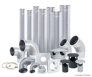 STEEL FLUE PIPES / ELBOWS / RAIN CAPS  from 4 inch / 100mm to 8 inch / 200 mm