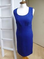 BNWT Pure Collection royal blue textured cotton lined shift dress size 8 RRP £89