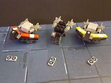Custom Kreon Transformers Cassettes Ravage,Laserbeak,Buzzsaw Kre-o 73 LEGO piece