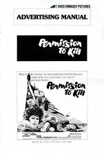 PERMISSION TO KILL pressbook, Ava Gardner, Dirk Bogarde, Bekim Fehmiu