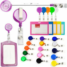 5- 50 Pcs Translucent Retractable Badge Reels Keys ID Badge Holder Belt Clip Lot