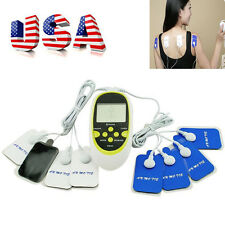 Power USB Therapy Machine Pulse Acupuncture Massager W 8 Pads Body Adhering USA
