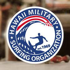 Hawaii military surfing Pegatina Sticker autocollante Maui Oahu Woodie