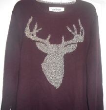 Urben Pipeline XL Mens Sweater Stag Burgundy Long Sleeve Cotton Blend NWT $50