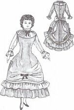Period French German Victorian Pattern 7�miniature scale doll dress