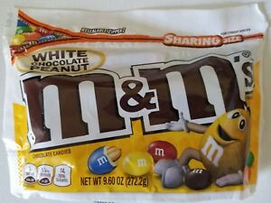 NEW M&M'S WHITE CHOCOLATE PEANUT CANDIES 9.60 oz BAG FREE WORLDWIDE SHIPPING