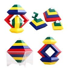 15 Pieces Multi-change Pyramid Tower DIY Building Blocks Stacking Kids Toy