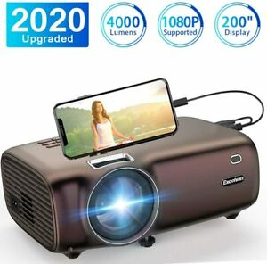 Projector Excelvan BL43 Portable Phone Projector Support 1080P 5000Lumen LED Hom