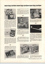 1955 PAPER AD Donald Duck Mickey Mouse Lunch Kit Adco Liberty Davy Crockett Bike