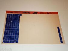 Microfich Service - Information Khd / Deutz Fahr Combine Harvester Md 80 Stand