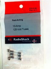 Fact-Acting 10-Amp 125-Volt Fuses #270-0148 By RadioShack