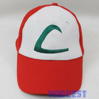 Pokemon Ash Ketchum Cosplay Hat Trainer Baseball Visor Cap Costume