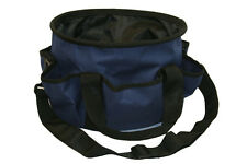 Knights Navy Blue Round Barn Brush Grooming Tote 1200D Crafters organizer bag
