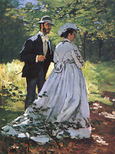 The Strollers-Monet - GICLEE ART PRINT 12 x 16 Many Sizes