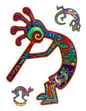 Rainbow Kokopelli Music Car Window Sticker Cool Laptop Decal Women Men