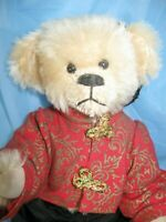 """Owassa Bear Sui Ling 8"""" Jointed Mohair Jenny Krantz UFDC 1992 convention."""