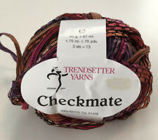 Trendsetter Yarns Checkmate Ribbon Yarm 100/% Nylon Color Choices
