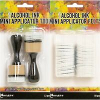 Tim Holtz Ranger Adirondack MINI ALCOHOL INK APPLICATOR TOOL + 50 FELT REFILLS