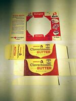 Vintage 1960s Rath Bologna and Armour Butter Food Boxes Unused Flat