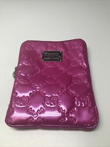 Hello Kitty Pink Embossed iPad Tablet Case By Sanrio Loungefly KG