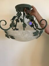 Brand New Fredrick Ramond Ceiling 3 Light Unique Rare Green Black Speckled Ivy