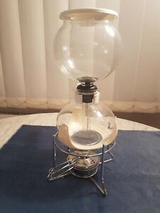 Bodum Santos PEBO Vakuum Kaffebereiter 1208 01 mit Ständer und Brenner Camping