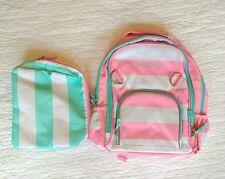 NWOT Pottery Barn Kids girls Small Backpack & Toiletry bag, monogram CAROLINE