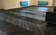 Black Oak French Chevron enginnered parquet flooring waxoiled Prime 150sqm stock
