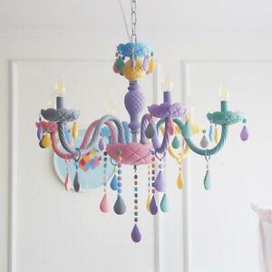 Macaroon Chandelier Ceiling Light Pastel Color Kids Room Deco