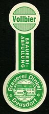 ALT ! Bieretikett Brauerei Dinkel † 1970 Lauter-Deusdorf Lkr Bamberg Oberfranken