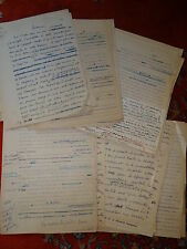 MARINE MANUSCRIT AUTOGRAPHE D'UNE CONFERENCE 1950 DE PIERRE VARILLON