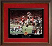 ALABAMA FOOTBALL 17TH NAT CHAMPIONSHIP JUST TUA MUCH PASS FRAMED  PRINT BY PITTS