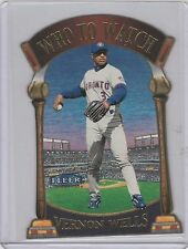 2000 Fleer Tradition Who To Watch #14WW Vernon Wells Toronto Blue Jays