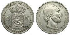 Netherlands- 2½ Gulden 1874 Zwaard