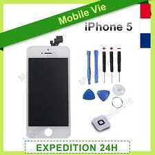 ECRAN IPHONE 5 BLANC VITRE TACTILE + LCD RETINA ORIGINAL SUR CHASSIS
