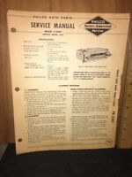 Philco Radio Service Manual C-5909 Mopar model 929