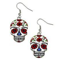 Day of the Dead Dia de los Muertos Sugar Skull Earrings Halloween Costume