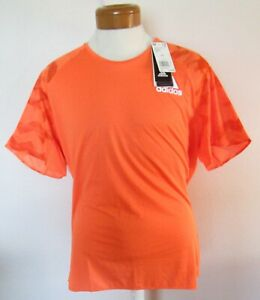 NWT Adidas Mens Adizero Short Sleeve Energy Running T-Shirt XL Orange MSRP$65