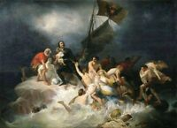 """oil painting on canvas""""Peter the Great Rescues the Drowning at Lahti  """"@N14805"""