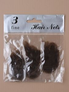 NEW pack x3 Girls Ladies' Hair Nets / Bun Nets, Dance/Ballet/Gym various colours