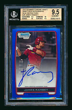 2012 BOWMAN CHROME JAMES RAMSEY RC BLUE REF AUTO DODGERS /150 BGS 9.5 GREAT SUBS
