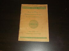 1938-39 HOOD RUBBER COMPANY BASKETBALL HINTS TRAINING GUIDE
