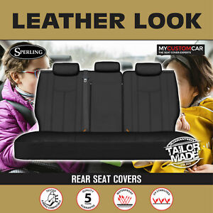 Toyota Camry AXVH71 Hybrid Sedan 2017-On PU Leather REAR Car Seat Covers