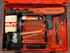 Hilti Dx36 M Power Actuated Nail Gun With Magazine Case Pistons Clips Tools