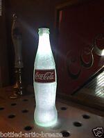 Coca Cola Coke White 12 oz Beer Bottle Light LED Bar Pool Man Cave Neon Bar