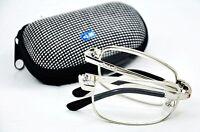 Z006 Folding Silver Metal Reading Glasses Case,Cloth +1.0+1.5+2.0+2.25+2.5+3.0