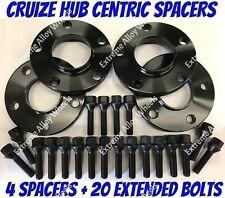 Alloy Wheel Spacers 15mm 20mm Skoda Karoq Octavia Superb Black Cruize 5x112
