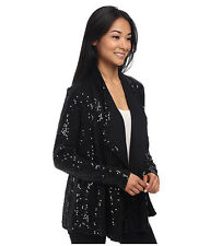 KAREN KANE CARDIGAN * BLACK SEQUIN * GORGEOUS * SMALL (or Med?) * NWT * was $168
