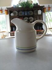 Pfaltzgraff Cloverhill Creamer with Blue and Green Bands~ in VGC!
