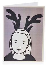 JULIAN OPIE x MoMA 'Girl w/ Reindeer Antlers' Box of 12 X-mas Holiday Notecards